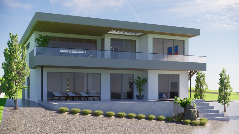140 Oliver Place Luxury Home - Façade Rendering 1